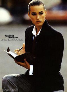 Les femmes d'affaires Elle France 31 October 1988 photographer: Gilles Bensimon fashion editor: Patricia Boin