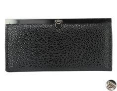 Peňaženka lakovaná s klipom, čierna 10719 www.vasepenazenky.sk