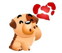 Dog Love Sticker by Chummy Chum Chums for iOS & Android Love You Gif, Cute Love Gif, Good Night Gif, Cute Good Morning, Animated Love Images, Animated Gif, Gif Bonito, Gif Lindos, Kiss Emoji