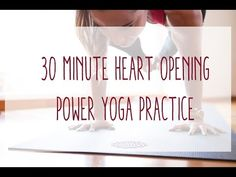30 Minute Power Yoga - Heart Opening Practice - on YouTube with Candace. My new favorite afternoon practice. It's really easy to sub Dolphin for the headstand, and Bridge for Wheel pose, if you're so inclined, without missing any benefits. The transition from Bound Side Angle into Birds of Paradise was damn near life-affirming.
