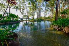 The lagoon pool at Seven Spirit Bay Wilderness Lodge in Arnhem Land, being refurbished for the 2016 dry season!