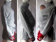 Maternity Maternity Coat Jacket Babywearing Coat by babywearing, $153.00