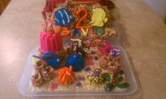 Finding Nemo rice krispie treats cake by Crazy Bugg Creations