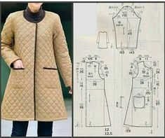 Sewing patterns coat patterns jacket patterns bolero pattern skirt patterns blazer pattern sewing tutorials sewing e book – ArtofitNo photo description available. Sewing Coat, Sewing Clothes, Diy Clothes, Coat Patterns, Dress Sewing Patterns, Clothing Patterns, Blazer Pattern, Jacket Pattern, Long Jackets For Women