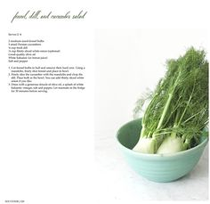 Shaved Fennel, Dill and Cucumber Salad