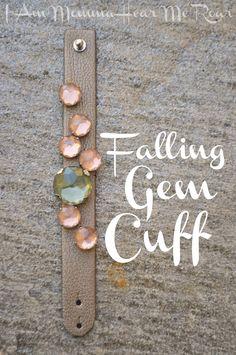 Falling Gem Cuff,  DIY
