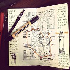 51 ideas travel journal ideas travelers notebook moleskine for 2019 Voyage Sketchbook, Travel Sketchbook, Art Sketchbook, Sketch Journal, Journal Notebook, Journal Pages, Notebook Ideas, Journal Layout, Notebook Sketches
