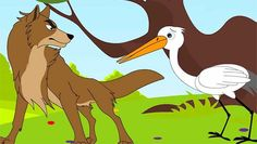 Story of cunning fox and clever stork
