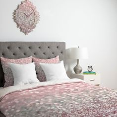 Lisa Argyropoulos Girly Pink Snowfall Duvet Cover | DENY Designs Home Accessories #sparkle #glitter #holiday #bedding