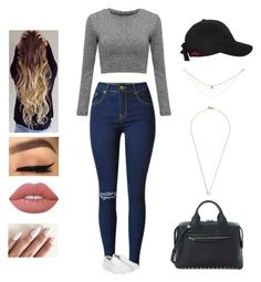 I'll be good to you by kyndraxsvt on Polyvore featuring polyvore Alexander Wang Shaun Leane Lime Crime fashion style clothing