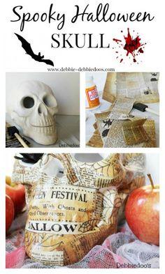 spooky #Halloween skull. Diy #modpodge