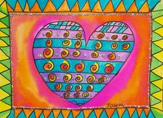 These Laurel Burch Hearts are so fun!