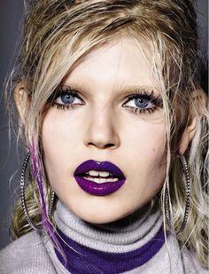 Ola Rudnicka by Richard Burbridge for Vogue Italia February 2015 [Beauty]