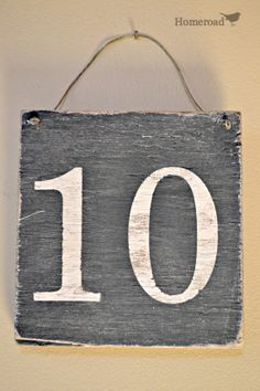 Rustic Number Sign by Homeroad on Etsy, $15.00