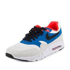 72cec9bd99f987 Nike Mens Air Max 1 Ultra Essential WhiteBlackVarsity RoyalRflct Slvr  Running Shoe 13 Men US -