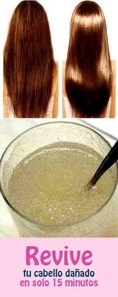 Revive tu cabello dañado en solo 15 minutos – y lo que necesitas es solo este ingrediente! #cabello #dañado #revivir
