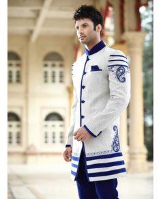 Designer Cotton Long Suit - Trendilicious Indian Ethnic Wear for Men..!!