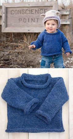 FREE knitting pattern for this Easy Baby Sweater. Easy Baby Sweater Knitting Pattern- a beginner-friendly project for a classic baby sweater! Kids Knitting Patterns, Baby Sweater Patterns, Knitting For Kids, Easy Knitting, Baby Patterns, Knitting Projects, Baby Knitting Patterns Free Newborn, Summer Knitting, Pattern Sewing