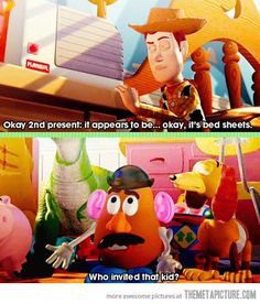 One of the many great quotes from this movie…Oh Potato Head!