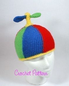 54984bd271528 Crochet Pattern  Smart Hat Propeller Beanie Beanie Pattern
