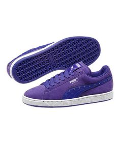 Look what I found on #zulily! Liberty Blue & White Suede Classic LD Sneaker - Women by PUMA #zulilyfinds