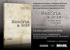 #Livro #MemóriaaDois, de Paulo Britto e #SergioBritto ~ Edições #Funarte | #Teatro #Brasil