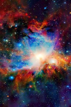 The Orion Nebula is a diffuse nebula situated south of Orion's Belt in the constellation of Orion.