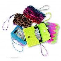 monster fur iphone® wristlet