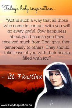 Catholic Quotes, Catholic Prayers, Catholic Saints, Religious Quotes, Roman Catholic, St Faustina, Faustina Kowalska, Bible Quotes, Bible Verses