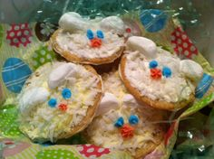 Bunny Cookies (Frosted sugar cookies with coconut and marshmallows) (Gluten free)