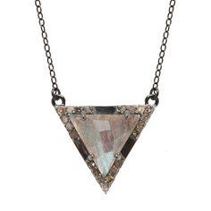 Metropolitan Necklace Labradorite Silver Bracelets, Silver Earrings, Triangle Necklace, Rose Gold Watches, Geometric Jewelry, Champagne Diamond, Sterling Silver Jewelry, Diamond Jewelry, Labradorite
