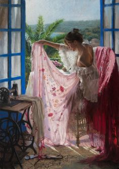 A Spanish artist Vicente Romero Redondo explores femininity through his amazing figurative paintings. The artist converts gorgeous young women and girls in natural and intimate environments into captivating pastel artwork on canvas. Spanish Painters, Spanish Artists, Woman Painting, Figure Painting, Painting Art, Painting Abstract, Pinturas Em Tom Pastel, Mode Poster, Classical Art