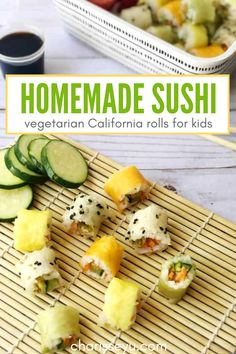 Hausgemachte Sushi – Fun Snacks and Recipes for Kids Easy Toddler Meals, Easy Meals For Kids, Healthy Snacks For Kids, Easy Snacks, Kids Meals, Toddler Food, California Roll Sushi, California Rolls, Homemade Sushi Rolls