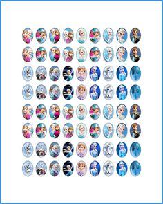 Imágenes para camafeos Frozen Todos los formatos  www.creabisuteria.es http://www.creabisuteria.es/catalogo/camafeos-imagenes/especial-infantil/