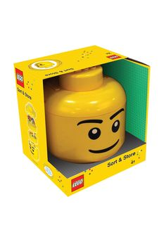 LEGO Sort and Store by Schylling: Tip your LEGO bricks into the sorter and shake to sort  small, medium and large pieces into separate sections. Comes with built in handle. LEGO pieces not included. On sale $39.50. #LEGO_Sorter #Schylling