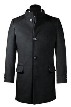 Herren Mantel, Stehkragen, Mode Mantel, Mode Für Männer, Trenchcoat Style,  Mann
