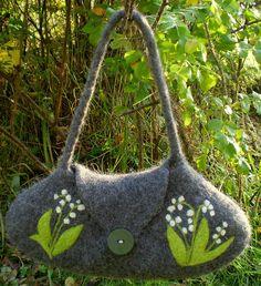 Gray lily of the valley handbag by HandmadebyMia, via Flickr