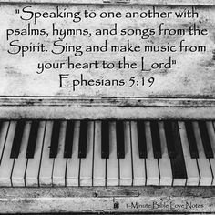 "speaking to one another in psalms, hymns, and spiritual songs; singing and making melody in your heart to the LORD; giving thanks always concerning all things in the name of our LORD Yeshua the Messiah, to God, even the Father; ""  ~Ephesians 5:19‭-‬20 WMB"