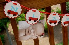 Red Wagon First Year Monthly Photo Banner