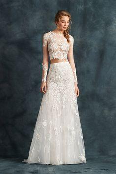 791 Popular Crop Top Two Piece Wedding Dresses Images In 2019