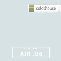 Colorhouse AIR .06: Very soft and tranquil, a beautiful barely blue for a child's room, a kids bathroom or ceilings.