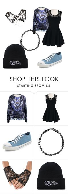"""""""Shinigami Rock"""" by creekfall599 ❤ liked on Polyvore featuring New Look and Boohoo"""