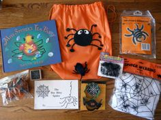 Miss spider's tea party literacy bag, spider, web, Literacy Bags, Preschool Literacy, Preschool Themes, Early Literacy, Literacy Activities, Preschool Crafts, Spider Book, Book Bags, Language Activities