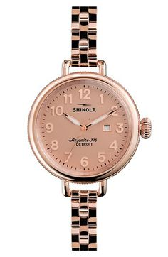 Shinola 'The Birdy' Bracelet Watch, 34mm available at #Nordstrom and Shinola. Made in Detroit!!!