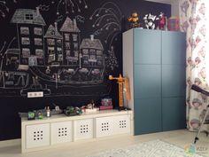 Детская школьника, черная краска для грифельной доски, стена для рисования в детской My Gym, Scandinavian Home, Kids Bedroom, Baby Room, Diy Furniture, Photo Wall, Home And Garden, Room Decor, Children