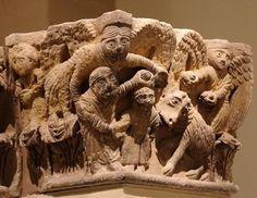 Sacrificio de Isaac - Capitel Románico