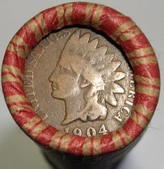WHEAT ROLL + 1904 INDIAN HEAD CENT + 1940 LINCOLN WHEAT CENT + 3 BONUS COINS !