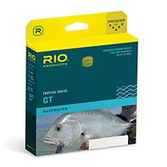 Rio Tropical Series GT Fly Line available at the Caddis Fly Shop. For the most demanding Giant Trevally fly fisher!  Rio GT Fly Line is for hardcore Giant Trevally anglers looking for the best!  Are you obsessed with fishing for giant trevally? Do you need a line that��s made specifically for GT? Rio��s Tropical Series GT Fly Line is your best bet for a perfect GT fishing set-up. Short, heavy head and taper shoots line easily and turns over even the biggest saltwater flies. Did we mention…