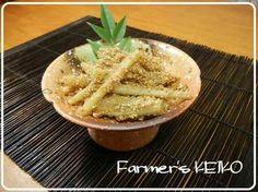 【農家のレシピ】たたきゴボウの酢醤油和えの画像