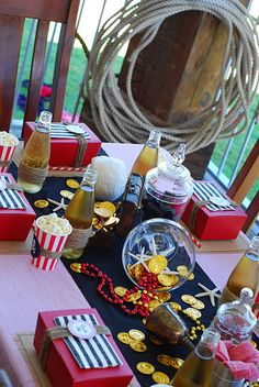 Pirate table decor,  inspiration for Mobella Events, Event Planner Florida, www.mobellaevents.com